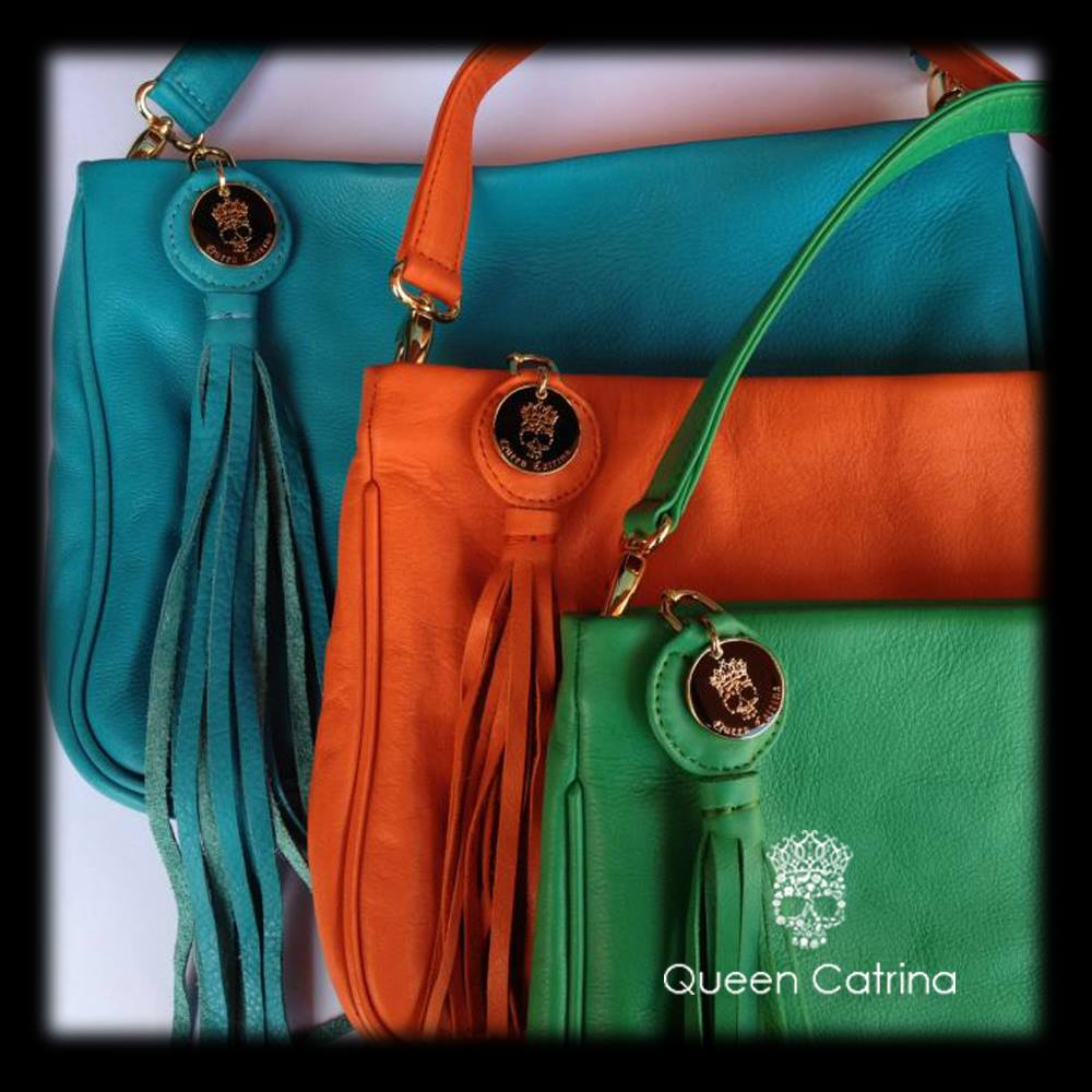 ENVELOPE LEATHER BAG WITH SHOULDER STRAP AND TASSEL